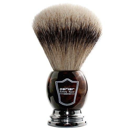 Parker 100% Silvertip Badger Men's Shaving Brush