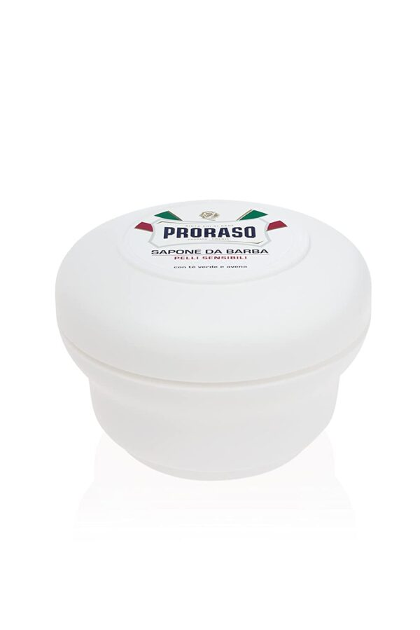 Proraso White Shaving Soap with Green Tea and Oatmeal Extracts