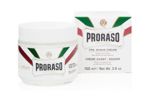 proraso white preshave lotion for sensitive skin