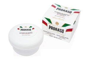 proraso white shave soap for sensitive skin
